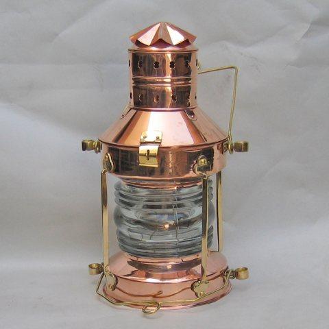 Robin S Dockside Shop Large Copper Anchor Lantern