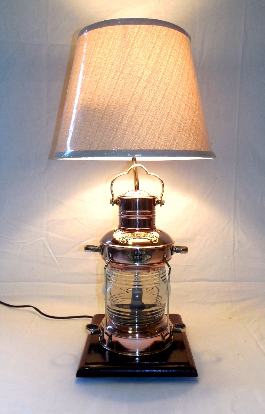 Robin S Dockside Shop Copper Anchor Lamp Table Lamp