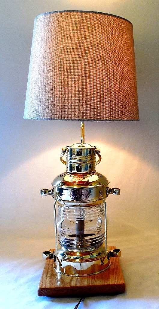 brass anchor lamp table lamp