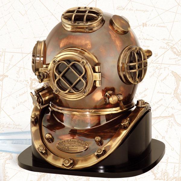"U.S Navy Copper Brass Diving Divers Helmet Solid Heavy Model Mark V 18/"" P216"