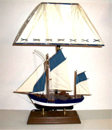 Sailboat Table Lamp : Robin s dockside shop fishing boat table lamp
