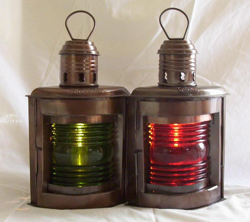 10 Port And Starboard Oil Lamps Ship Lantern Br Ebay