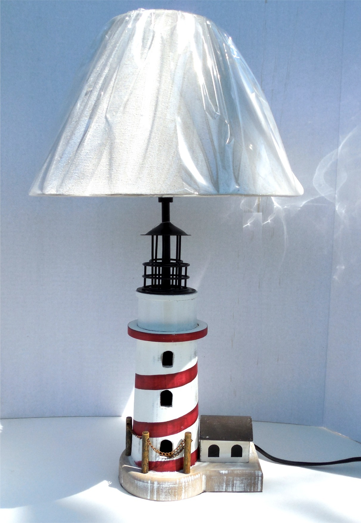 table lamp for bedside or small table a nice small lighthouse table. Black Bedroom Furniture Sets. Home Design Ideas