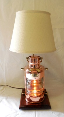 Charmant Copper Look Out Lantern Table Lamp