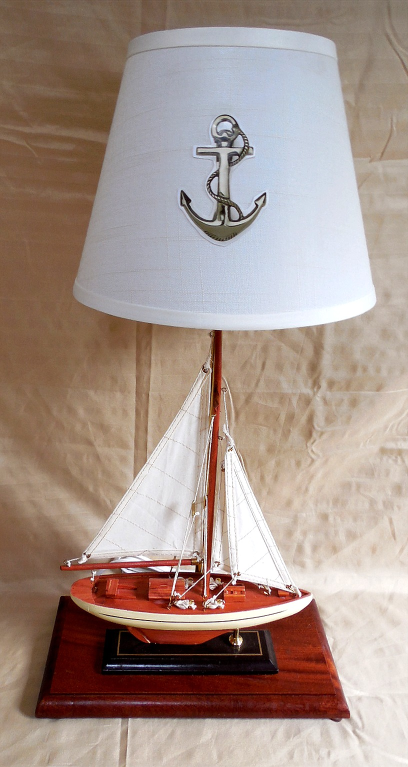 Sailboat Table Lamp : Robin s dockside shop sailboat table lamp