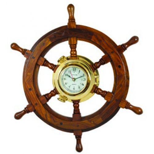 Robin S Dockside Shop Ships Wheel Porthole Clock