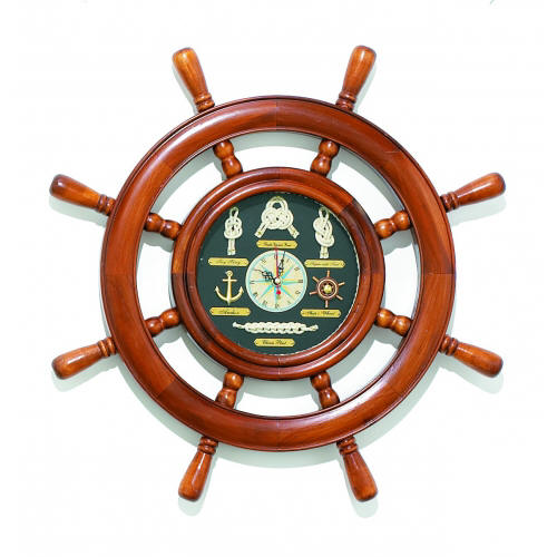 Knot Board Ships Wheel Clock