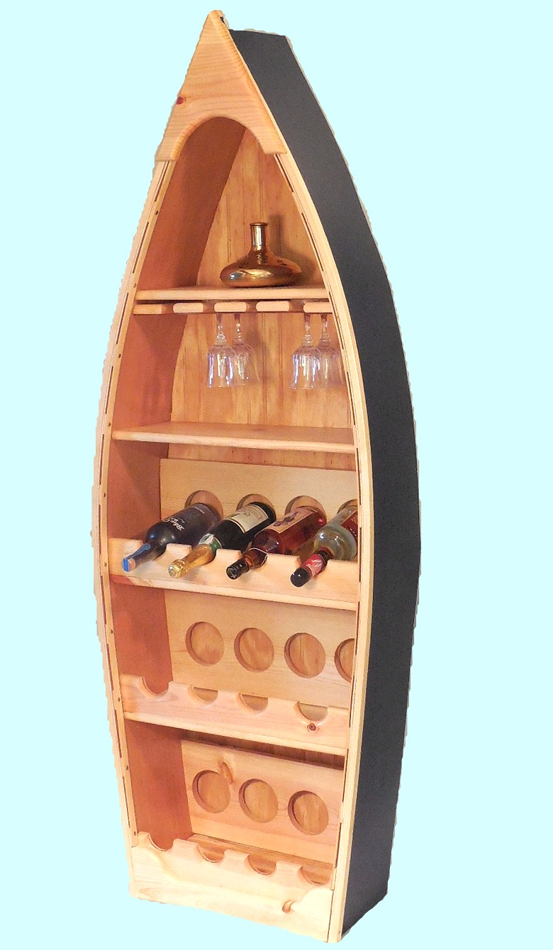 Robin's Dockside Shop - Rowboat Wine Rack